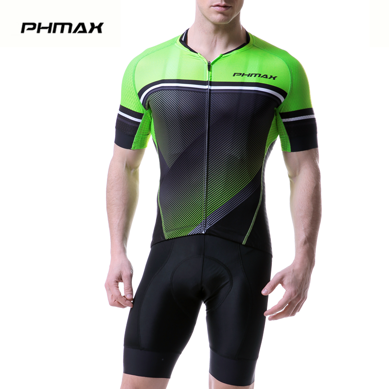 PHMAX 2019 Summer Pro Cycling Jersey Set Shorts Sleeve Maillot Ropa Ciclismo Bicycle Sportswear Bike Clothing