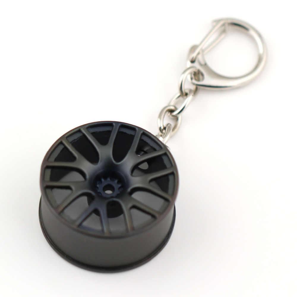 10 unids/lote árbol creativo rastrillo forma campeón rueda llavero accesorios de moda pieza del coche modelo llavero Keyfob anillo