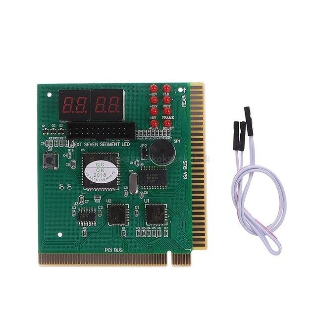 Chẩn đoán 4 Chữ Số Thẻ Bo Mạch Chủ Mainboard BÀI Tester PCI ISA Cho Máy Tính PC # H029 #