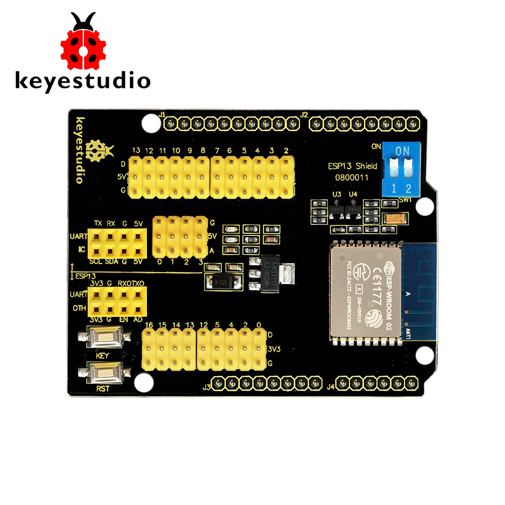 New! Keyestudio ESP8266 Web Sever Serial Wifi Expansion Shield Module ESP-13 for Arduino UNO