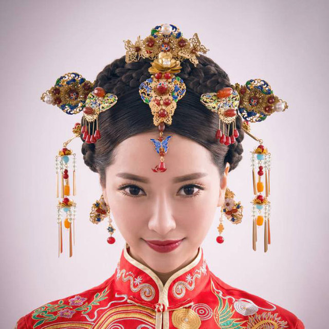 new Chinese bride headdress hair bride Bride Costume Jewelry