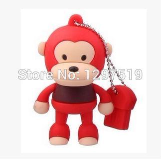 hot sale cartoon monkey USB 2.0 usb flash drive Memory Drive Stick Pen/Thumb/Car/Gift u disk 2GB 4GB 8GB 16GB Real capacity S109