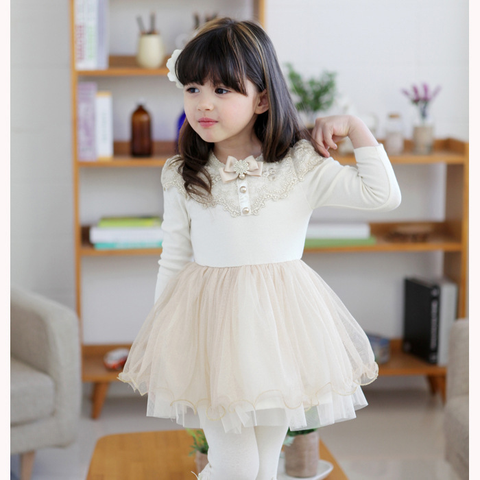 c35b051259 winter roupa meninas vestido tutu little girls dresses bow kids girl long  sleeve princess casual dress for party wedding white-in Dresses from Mother    Kids ...