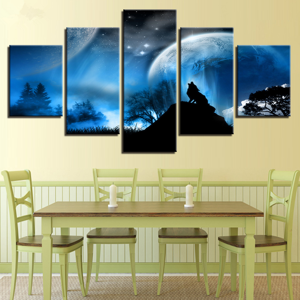 Framed Home Decor Canvas Prints Pictures Framework Wall