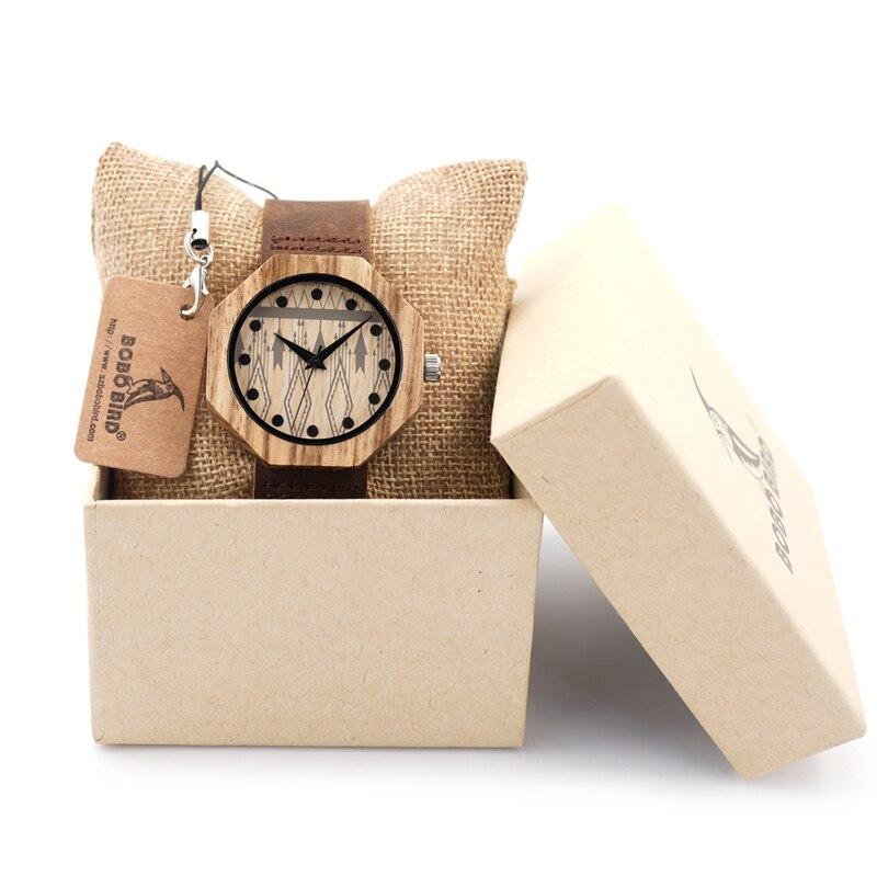 Image 5 - BOBO BIRD V D04 Octagon Wooden Watches Women Luxury Quartz Clock Cool Lady Dress Leather Wristwatch in Gift Boxwristwatch womenwristwatches clockwristwatch quartz watch -