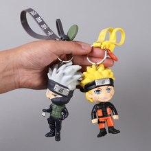 Hot 3D Anime Keychain Keyring Naruto Keychain Figure Kakashi Naruto Doll Key chain Car Bag Charms Pendant for Cosplay Gift