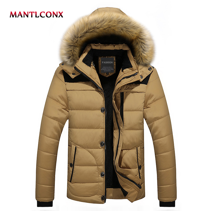 MANTLCONX 2019 Men Winter Wool Jackets Coats Thick Cotton Male Casual Fashion Parkas Large Size Jackets Jaqueta Outwear Men