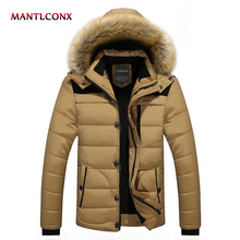 MANTLCONX 2019 Men Winter Wool Jackets Coats Thick Cotton Male Casual Fashion Parkas Large Size Jaqueta Outwear