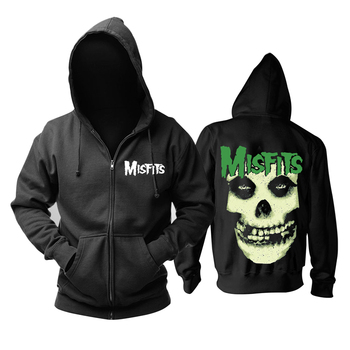 9 designs 3D Skull Bone Sudadera Misfits Rock hoodies Winter Zipper jacket brand clothing punk heavy metal print Sweatshirt