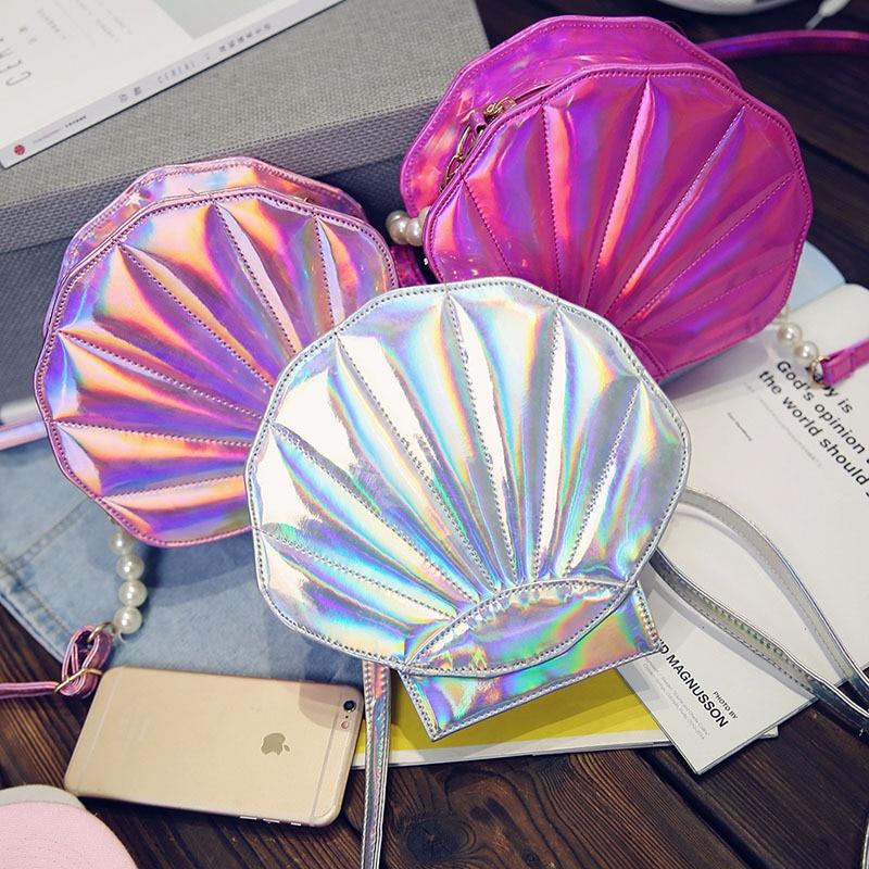 Linda bolsa de playa de cuero de la PU láser Lolita Mini Crossbody - Bolsos - foto 4