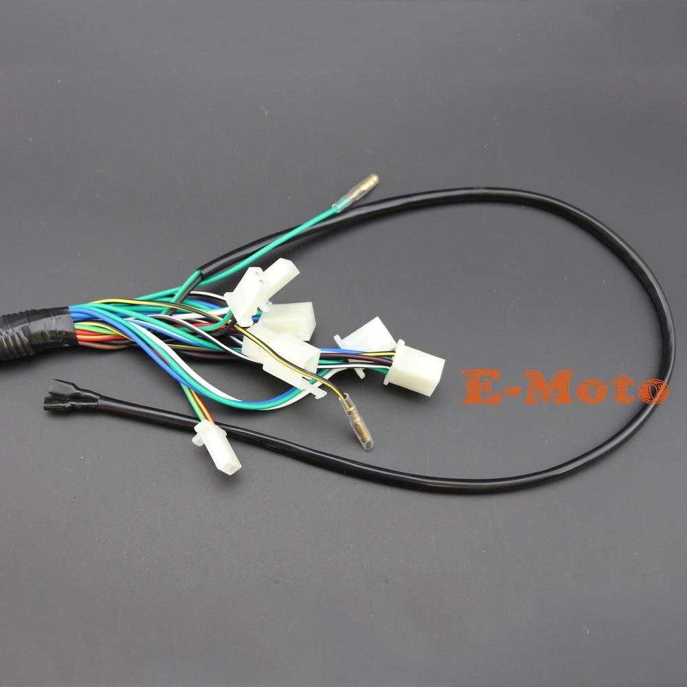 medium resolution of wire loom wiring harness wireloom 50cc 70cc 110cc 125cc atv quad bike buggy go kart in motorbike ingition from automobiles motorcycles on aliexpress com