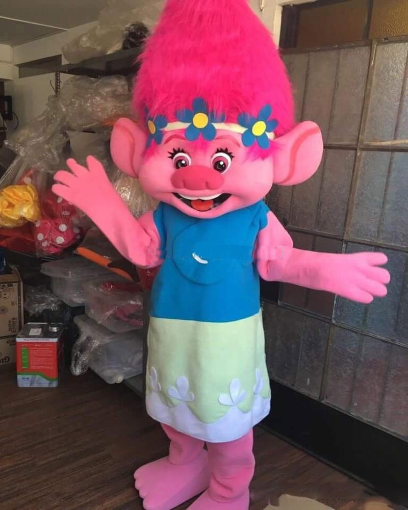 Trolls Branch Adult Mascot Costume BODY Suit Outfit Party Birthday Halloween NEW