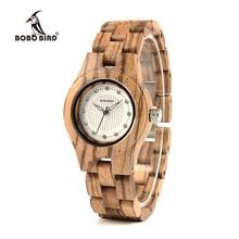 Бобо птица V-O29 лучший бренд класса люкс для женщин уникальные часы Бамбук Деревянные модные повседневные