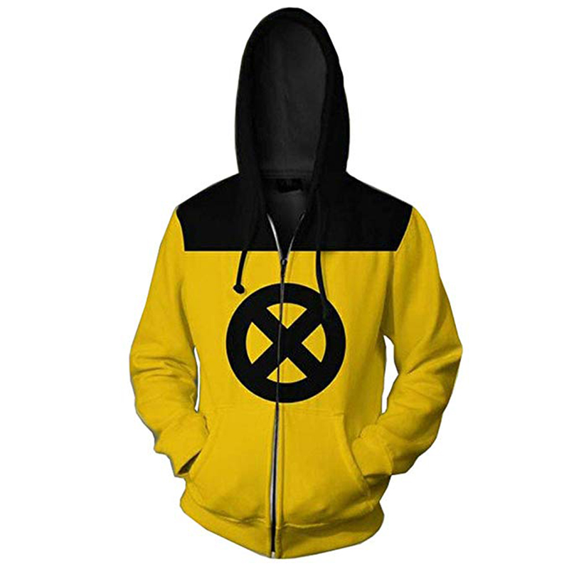 Deadpool Hoodie Cosplay X-men Jacket Costume Creative Tops Halloween Costume Hooded Sweatshirt Casual Daily Coat