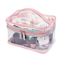 Clear Waterproof Cosmetic Toiletry Bag Travel Necessary PVC Makeup Pouch Case Organizer Beauty Storage Accessories Supply