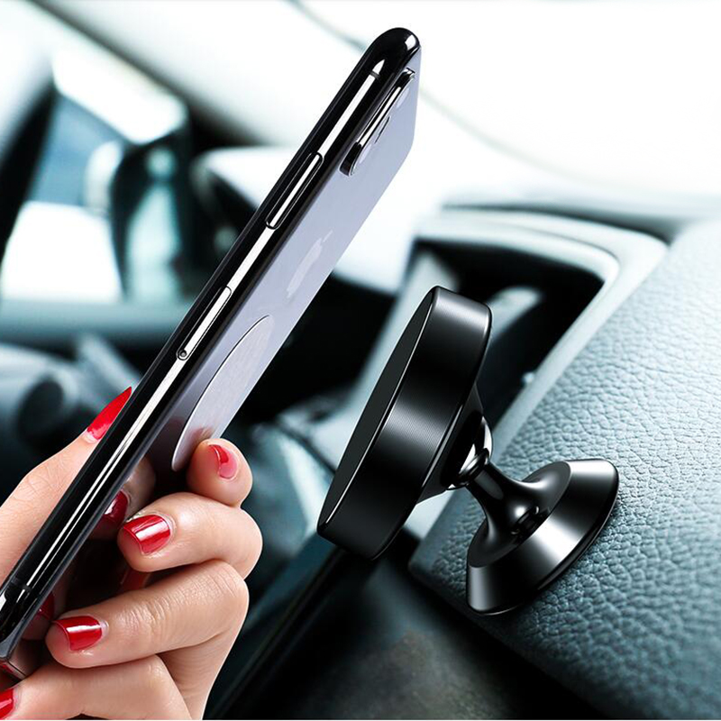 Magnetic Car Phone Stand Dashboard Phone New Luxury Stand Holder For IPhone For Huawei Mount Magnet Air Hole Handle Installation