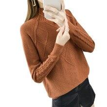 Winter Casual Office Lady Sweater Women Bottoming Knitwear L