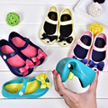 Candy Color Girls Sandals Kids Shoes Rubber Mini Bowtie Bow Summer Children Sandals for Girls
