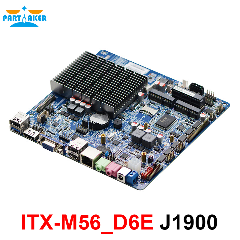 ITX-M56_D6E mainboard 6*COM Celeron J1900 fanless thin mini itx motherboard with EDP mini itx motherboard with ops interface for digital signage