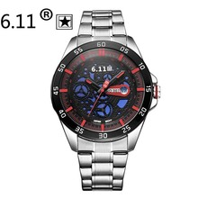 Watches Men Luxury Brand 6.11 Solar-powered watch Men stainless steel Casual Wristwatch Male calendar Clock Relogio Masculino