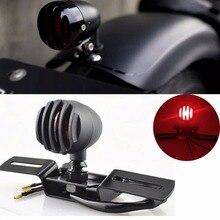 Черный Ретро мото задний индикатор номерного знака Кронштейн чоппер мотоцикл стоп-сигнал для мотоцикла Harley задний фонарь