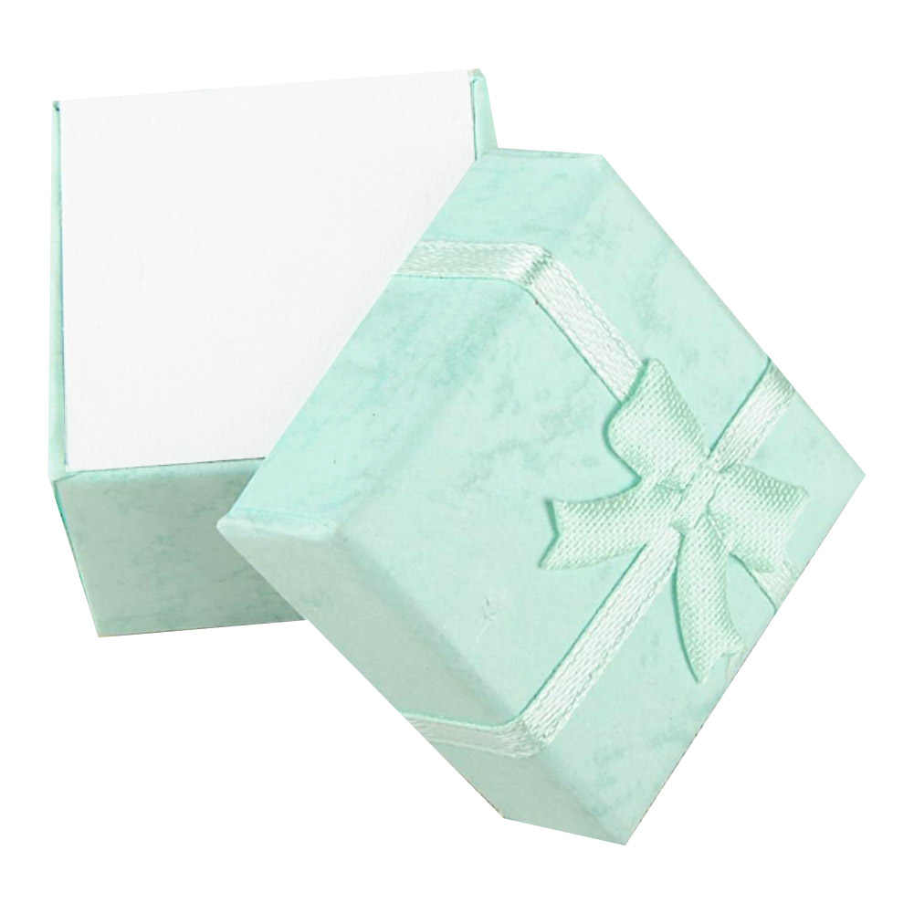 Cheap 4*4*3cm jewelry purple earring bracelet ring small gift box blue square carton bow case ES4544