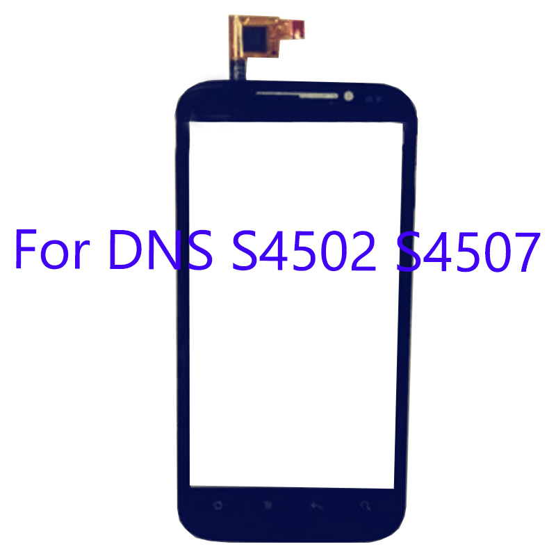 For <font><b>DNS</b></font> <font><b>S4502</b></font> S4507 Touch Glass Digitizer Glass Panel For <font><b>DNS</b></font> S 4502 S 4507 Touch Screen Glass Lens Sensor Adhesive flex cable image