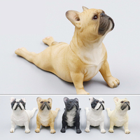 Mnotht 1 6 French Bulldog Head Up And Prone Simulated Dog Model For 12in Action Figures