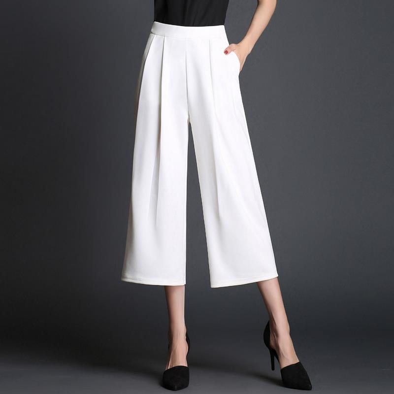 high waist   wide     leg     pants   fashion loose summer plus size casual capris