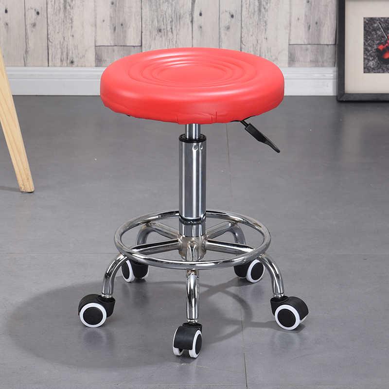 Cadeira de Barbeiro Hidráulica Rolling Stand Cadeira ajustável Primavera Bar Café Tatuagem Rosto Massagem Mobília do Salão de beleza Salão De Beleza Quente