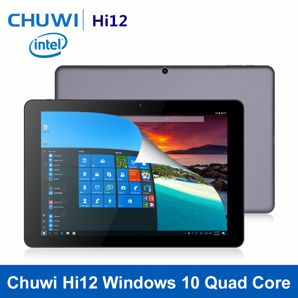 цена на Original CHUWI Hi12 12 inch Windows 10 Tablet Quad Core Trail X5-Z8350 4GB RAM 64GB ROM 11000mAh HDMI Bluetooth 4.0 Tablet PC