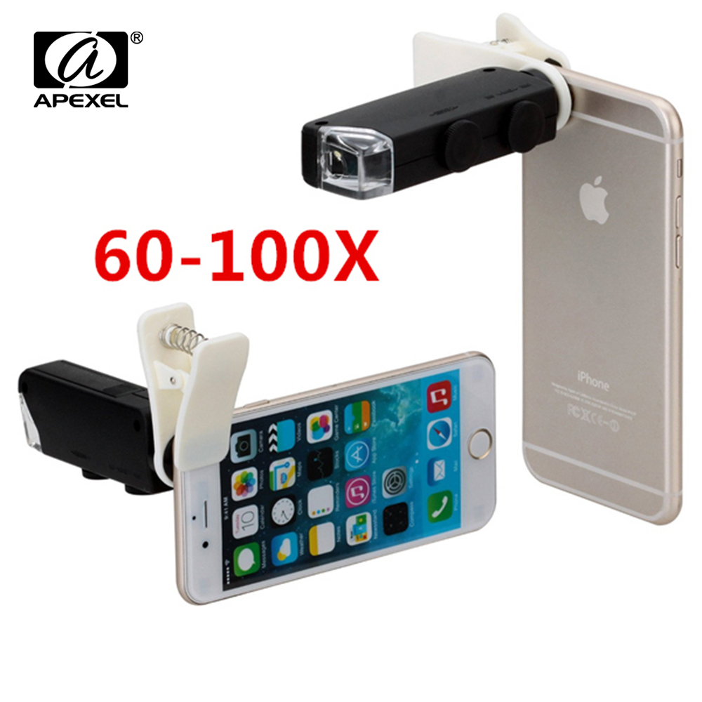 Aliexpress.com : Buy Hot Sale 60X to 100X Zoom LED Microscope Magnifier Micro Mobile Phone Lens ...