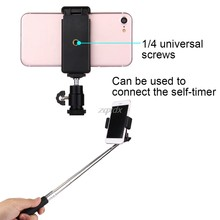 Universal Camera Phone Bracket Holder Clip Tripod Mount Adapter with 360 Ball Head for iPhone Samsung CellPhone Drop ship(China)