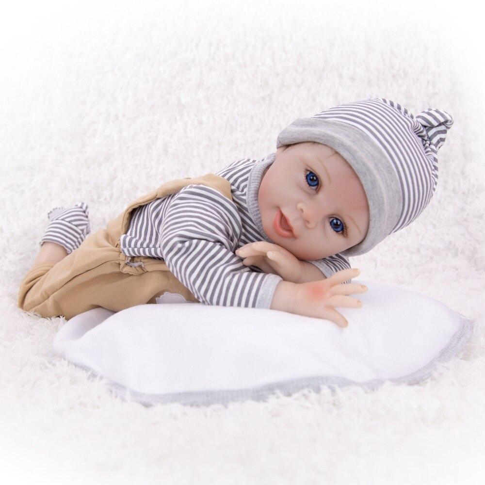 Linda sonrisa reborn doll 55 CM realista silicona bebé muñecas bebé niño Reborn muñeca DIY juguete para niñas regalos y ropa de bebé de moda