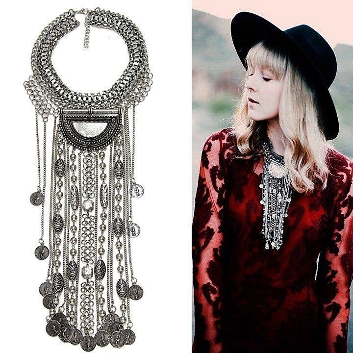 JERPVTE Vintage srebrne ogrlice i privjesci Vintage Crystal Maxi - Modni nakit - Foto 3
