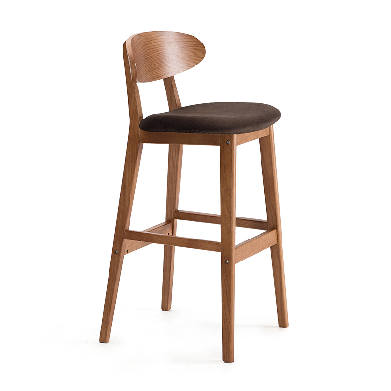 Counter Height Modern Wood Bar Chair Stool Kitchen Pub Chair Bar Furniture Armless Stool Dining Chair Wooden Tall House Stool real wood bar chair european bar chair iron art chair rotate the front chair
