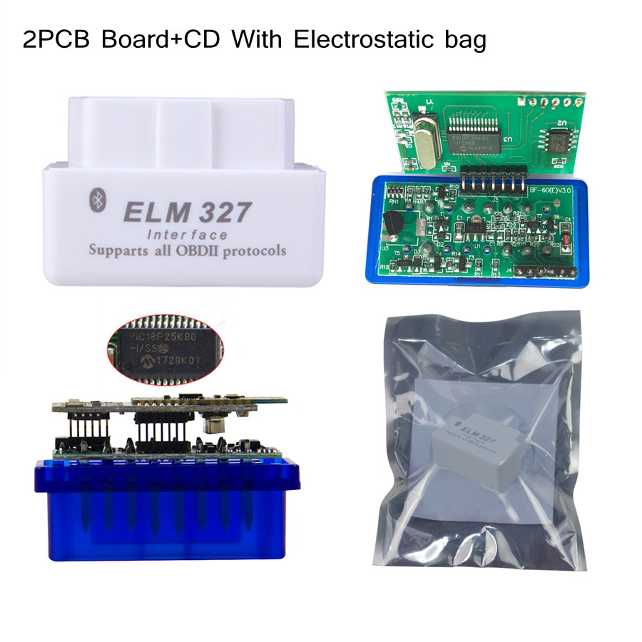 Image 3 - Best Quality Hardware V1.5 PIC18F25K80 Chip ELM327 Bluetooth 1.5 Works Android Windows Diagnosis Scan Tool ELM 327 FREE SHIPPING-in Car Diagnostic Cables & Connectors from Automobiles & Motorcycles