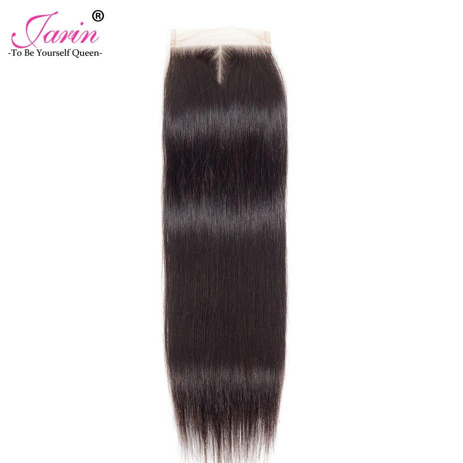 Jarin дешевые бразильские закрытие прямые волосы кружева Бесплатная/средний/третья часть человеческих волос 4x4 дюйма швейцарский Кружевной Т... ...