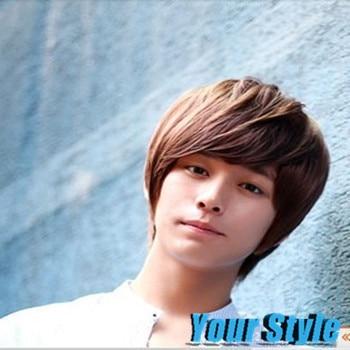 chico corte pixie corta sinttica pelucas peinados coreanos los hombres asiticos perruque peluca peluca masculina pelo