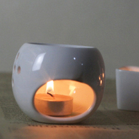 Free Shipping Ceramic White Porcelain Japanese Candles And Incense Furnace Oil Lamp Home Furnishing Decoration Air
