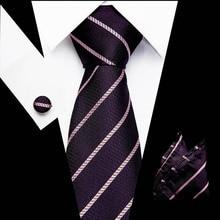 New Wedding Men Tie Pink Striped Fashion Designer Ties For Business 7.5cm Dropshiiping  Vangise Groom Kravat