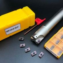 10PCS Lathe tool APMT1135 M2 + 1PCS 24mm cutter head BAP300R C24-25-150-3T CNC milling carbide insert
