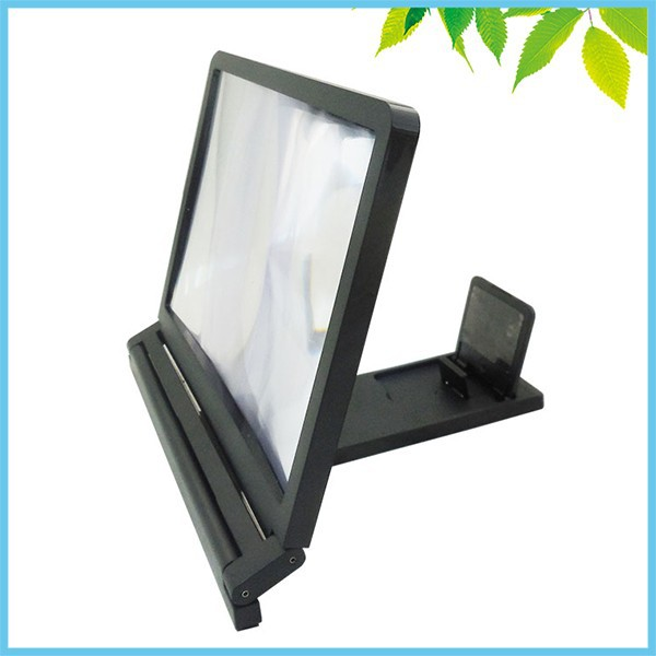 3X Mobile Phone Screen Magnifier HD Fresnel Lens Expander Enlarge Magnifier With Holder Stand for Mobile Watching TV 7