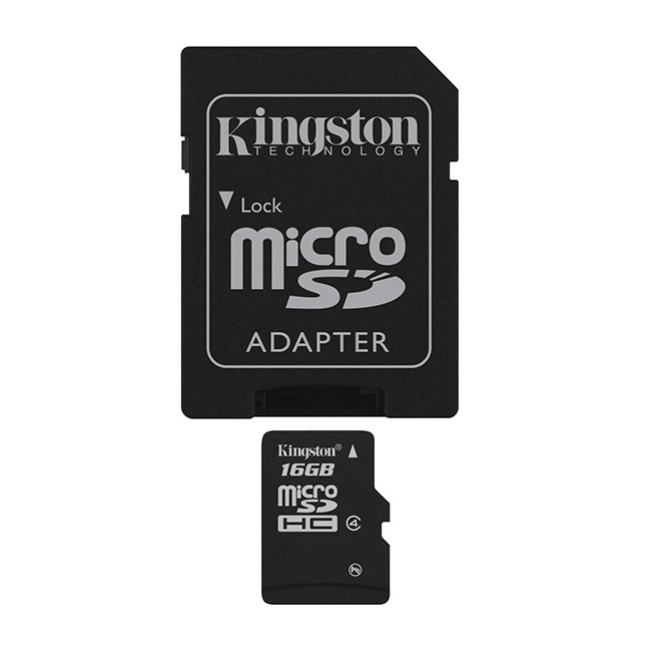 Kingston Technology 16Gb MicroSDHC, 16 GB, MicroSDHC, Class 4, Flash, 4 MB/s, Black