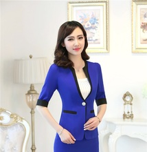 New Professional Formal OL Styles Spring Summer Blazers & Jackets For Womens Slim Fashion Female Blaser Tops Uniforms Work Wear