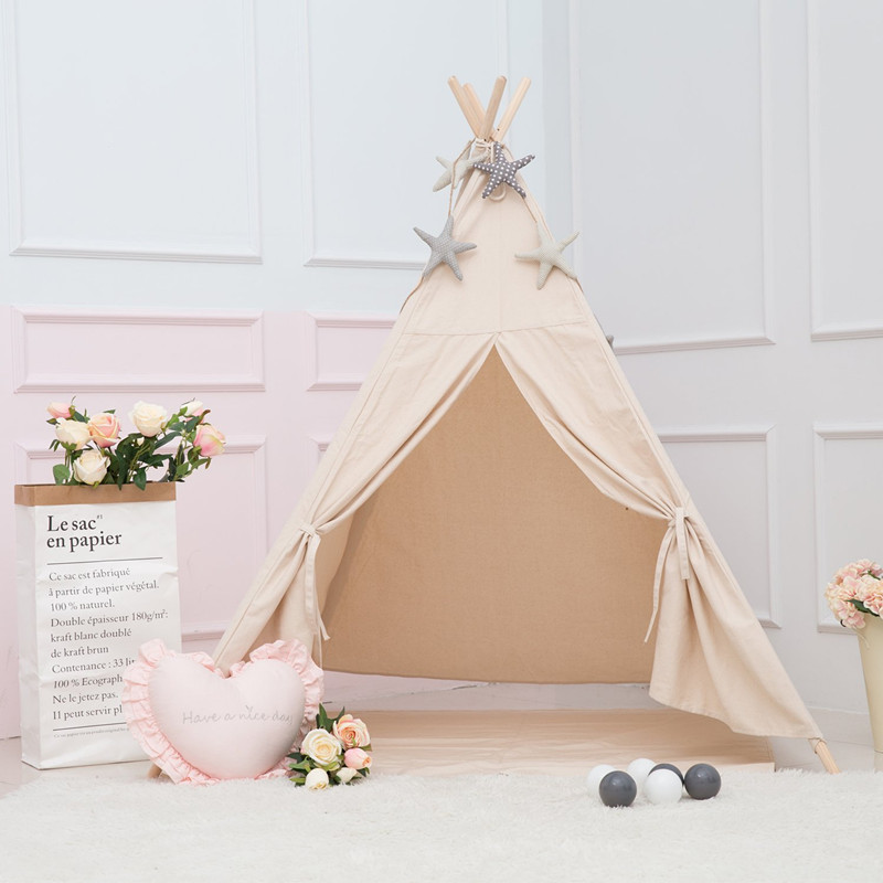 все цены на Natural Canvas Kids Play Teepee Tent Childrens Tipi Tent