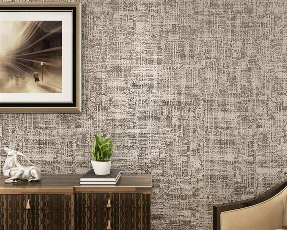 plain background study bedroom modern living wall wallpapers beibehang imitation linen pure decoration