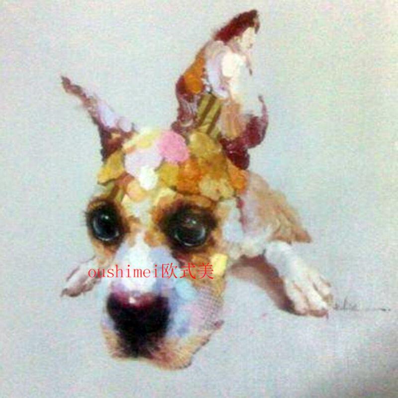 ✅Tan barato alta calidad pintura al óleo animal hecha a mano en ...
