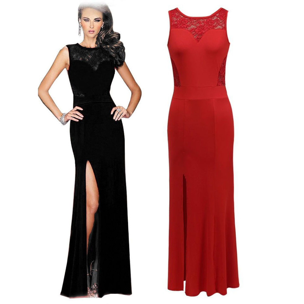 Sleeveless Right Split Casual Bodycon Party Dresses