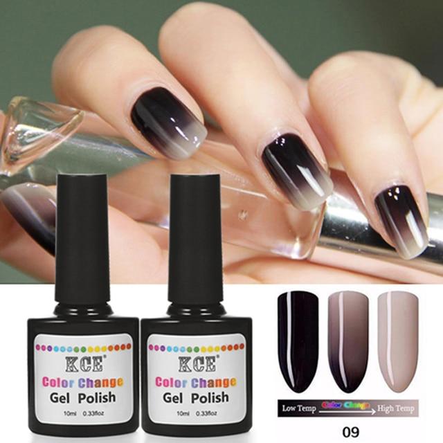 18 Цветов Мода Женщин Бесплатная Доставка Лак для ногтей Изменение Температуры Цвет ногтей UV Гель для Ногтей Soak Off ногтей гелем KCE-WB